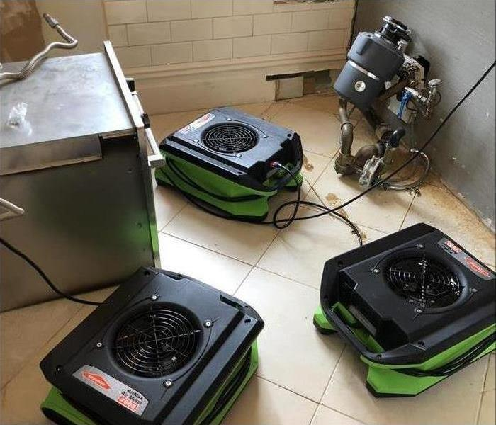 Our equipment drying out residual moisture in this home